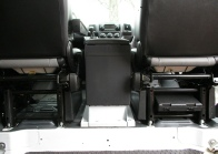 The Promaster center console mounts to a smart, easy to install bracket