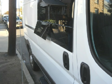 Promaster venting glass for the slider-door