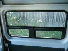 Promaster window for the sliding door with vent & screen